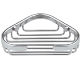 Chrome Brass Large Corner Soap Dish Basket - 86000055